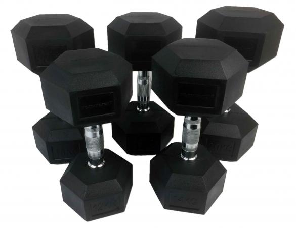 Tunturi Hexa Dumbellset 12-20 kg   14TUSCL181