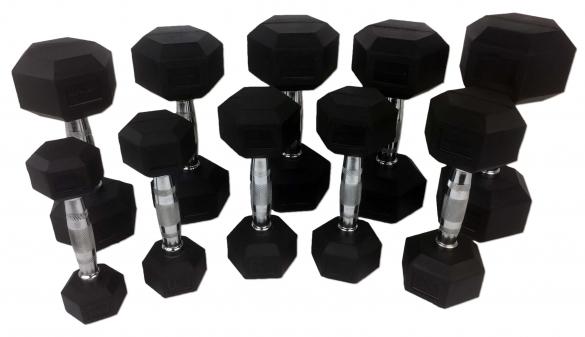Tunturi Hexa Dumbellset 1-10 kg   14TUSCL180-vrr
