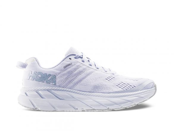 Hoka One One Clifton 6 hardloopschoenen wit dames  1102873-WLRC