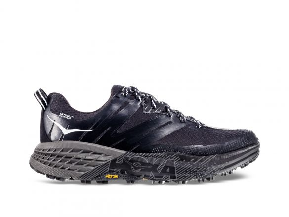 Hoka One One Speedgoat 3 WP trail hardloopschoenen zwart/grijs dames  1102501-BPAR