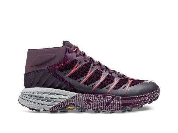 Hoka One One Speedgoat Mid WP trail hardloopschoenen paars/grijs dames  1093761-OIPL-VRR