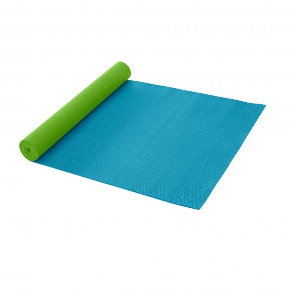 Gaiam 2 kleuren yogamat – turquoise/groen (3mm)  G81-55475