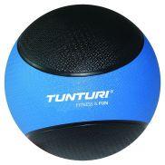 Medicine ball 4 kg blauw/zwart
