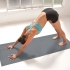 Gaiam Grippy yoga handoek Citron/Storm  G05-61345