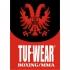 Tufwear bokszak met hoek bruin leer classic 122 cm / 35 kg  T42