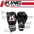 King KPB-1 (kick)bokshandschoenen Pro Boxing zwart/rood  KPB-1ZW