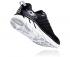 Hoka One One Clifton 6 wide hardloopschoenen zwart/wit heren  1102876-BWHT