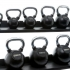 Muscle Power Kettlebell Rubber - Chrome 24 KG MP1301  MP1301-24